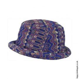 Blue-Patterned-Rimmed-Hat
