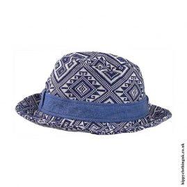 Blue-&-White-Patterned-Hippy-Hat