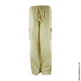 Dark-Cream-Plain-Cotton-Nepalese-Hippy-Trousers