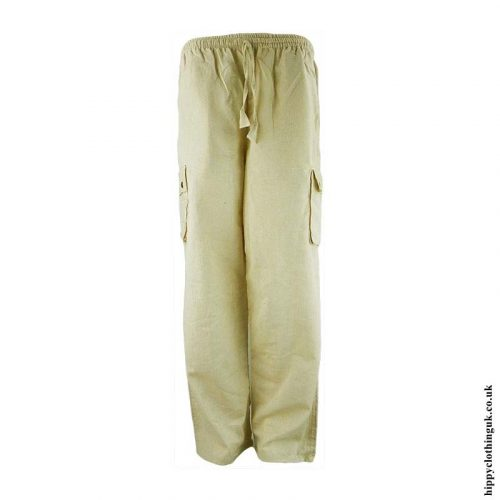 Dark-Cream-Plain-Cotton-Nepalese-Hippy-Trousers