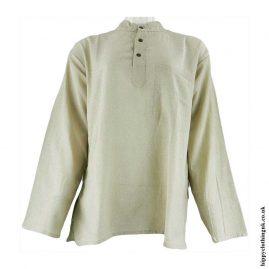 Dark-Cream-Plain-Grandad-Hippy-ShirtsDark-Cream-Plain-Grandad-Hippy-Shirts
