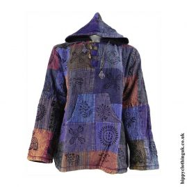 Fleece-Lined-Patchwork-Hippy-Hoodie