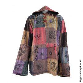 Fleece-Lined-Patchwork-Hippy-Hoodie