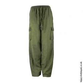 Green-Plain-Cotton-Nepalese-Hippy-Trousers