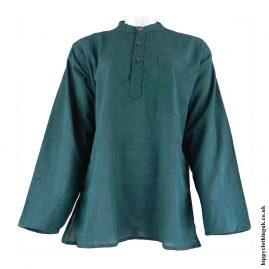 Green-Plain-Grandad-Hippy-Shirts