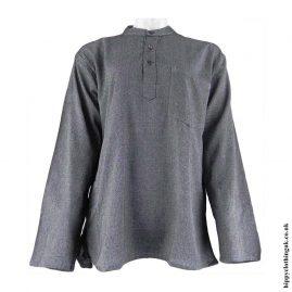 Grey-Plain-Grandad-Hippy-ShirtsGrey-Plain-Grandad-Hippy-Shirts