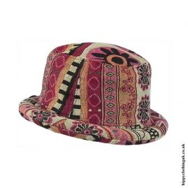 Multicoloured-Patterned-Rimmed-Hat