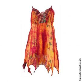Rust-Cotton-Pointed-Pixie-Hippy-Blouse-Top