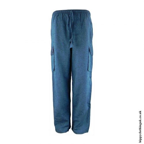 Teal-Plain-Cotton-Nepalese-Hippy-Trousers