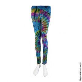 Turquoise-Tie-Dye-Leggings