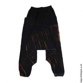 Black-Cotton-Hippy-Ali-Baba-Harem-Trousers