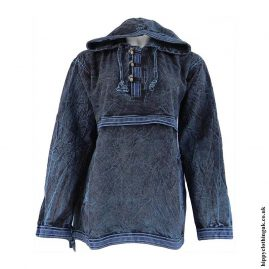 Blue-Stonewashed-Hooded-Top