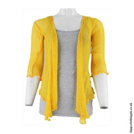 Golden-Yellow-Bali-Knit-Shrug