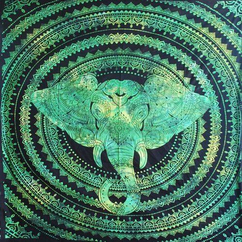 Green-Double-Elephant-Hippy-Throw