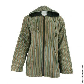Green-Fleece-Lined-Cotton-Hooded-Jacket