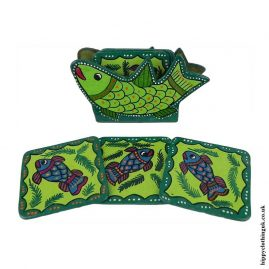 Green-Hand-Painted-Coasters-in-Holder-a