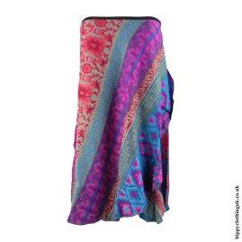 Multicoloured-Acrylic-Wrap-Hippy-Skirt