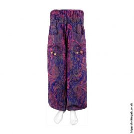 Multicoloured-Funky-Patterned-Acrylic-Trousers