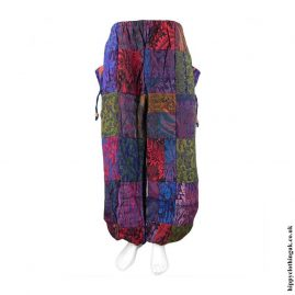 Multicoloured-Patchwork-Acrylic-Trousers