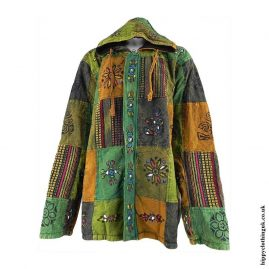 Multicoloured-Patchwork-Hooded-Hippy-Jacket