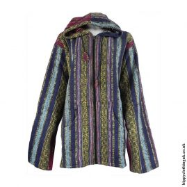 Multicoloured-Thick-Weave-Pixie-Hooded-Jacket