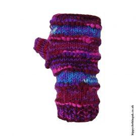Purple-Fleece-Lined-Wool-Wrist-Warmers