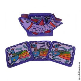Purple-Hand-Painted-Coasters-in-Holder