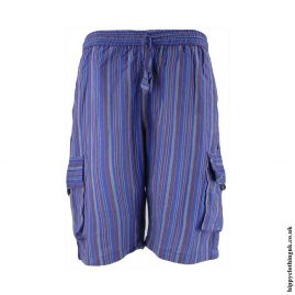 Striped-Cargo-Shorts-Blue
