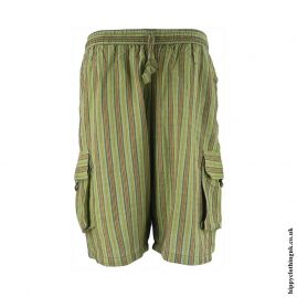 Striped-Cargo-Shorts-Green