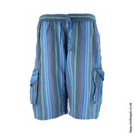 Striped-Cargo-Shorts-Turquoise