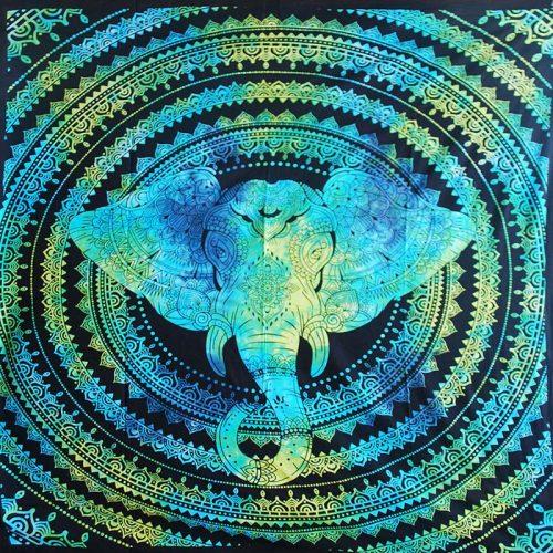Turquoise-Double-Elephant-Hippy-Throw