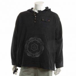 Black-Mandala-Hooded-Hippy-Shirt