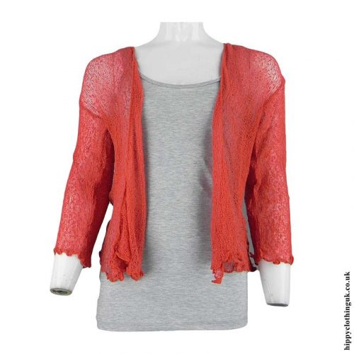 Coral-Hippy-Bali-Knit-Shrug