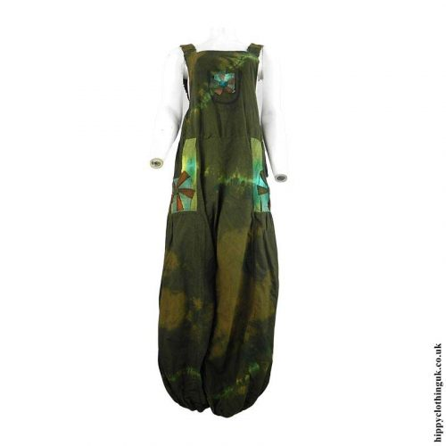 Green-Tie-Dye-Hippy-Patchwork-Dungarees