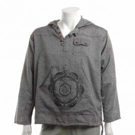 Grey-Mandala-Hooded-Hippy-Shirt