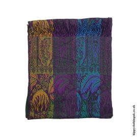 Multicoloured-Paisley-Acrylic-Blanket
