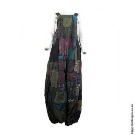 Multicoloured-Patchwork-Dungarees