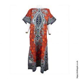 Orange-Long-Cotton-Thai-Kaftan-Dress-Unisex