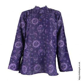 Purple-Celestial-Grandad-Shirt