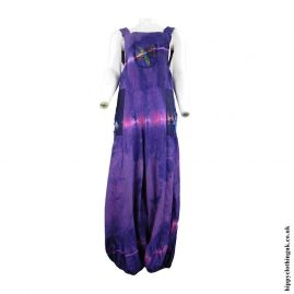 Purple-Tie-Dye-Hippy-Patchwork-Dungarees