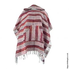 Red-Acrylic-Hooded-Hippy-Poncho