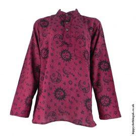 Red-Celestial-Grandad-Shirt