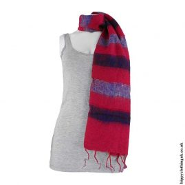 Red-Striped-Acrylic-Scarf
