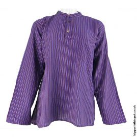 light-Purple-Nepalese-Cotton-Striped-Grandad-Shirt