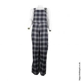 Black-Checked-Dungarees