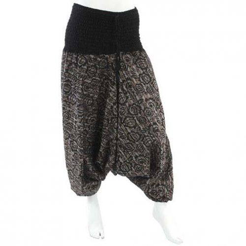Black-Flower-Harem-Ali-Baba-Trousers