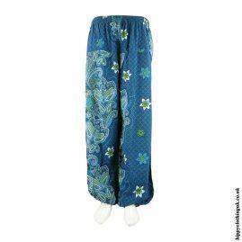 Blue-Patterned-Harem-Hippy-Trousers