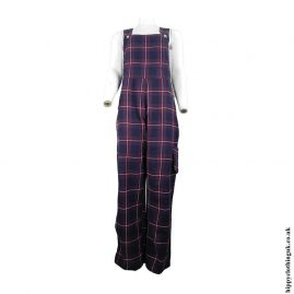 Blue-and-Red-Checked-Dungarees