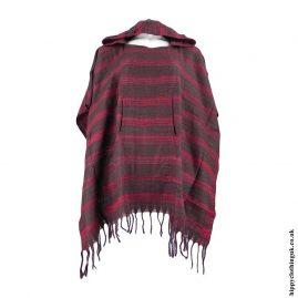 Brown-Acrylic-Striped-Poncho