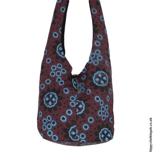 Brown-Patterned-Shoulder-Bag